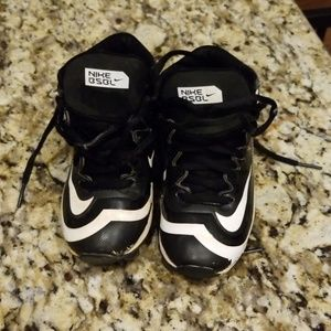 Boy's Nike Hurache High Top Baseball Cleats 10c